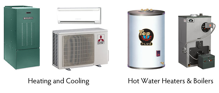 Heating and cooling systems and hot water heaters