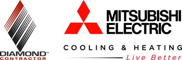 Diamond Contractor and Mitsubishi Electric logos
