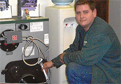 Technician and Peerless Partner Indirect-Fired Water Heater